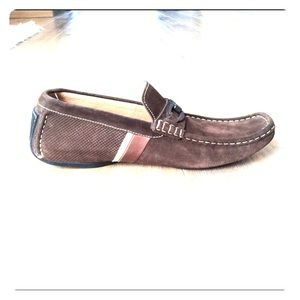 Magnanni suede driving moccasin